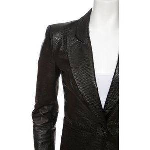 Rachel Zoe Jackets & Coats - Rachel Zoe Sullivan Croc-Embossed Leather Jacket